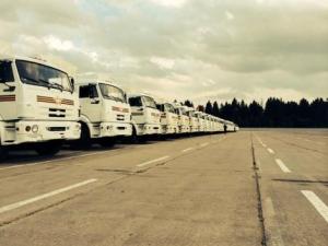 гуманитарная помощь, рф, грузовики, трансляция, ато