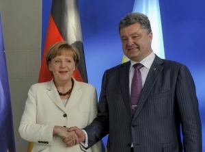 меркель, порошенко, германия, помощь, донбасс, ато