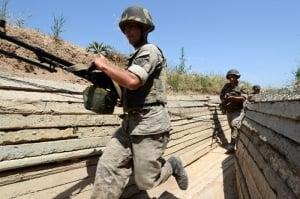 карабахский конфликт, обстрел азербайджанских сел, азербайджан, армения, происшествия