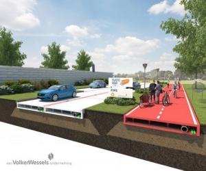 голландия, роттердам, пластиковая дорога, происшествия, общество