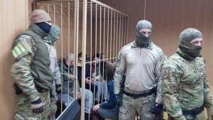 украинские моряки, суд, плен, азовское море, украинские корабли, видео, россия