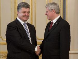 канада, новости украины, порошенко, харпер, свободная торговля, политика, всу, нато