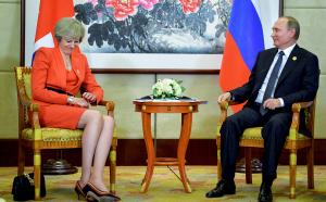 Россия, Великобритания, Мэй, Путин, Встреча, Политика.