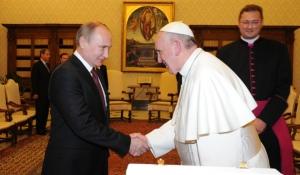 путин, папа римский франциск, украина, сепаратизм