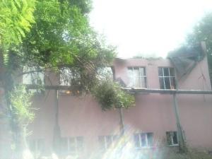 луганск, обстрел, жилые дома, многоэтажки, школа, последствия