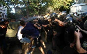 одесса, черноморск, скандал, суд, профсоюз, полиция, беспорядки