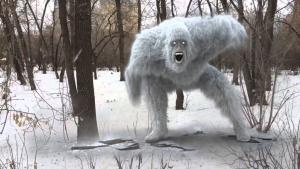 снежный человек, американец, видео, природные аномалии, кадры, сша, йети