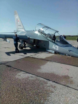 Авиация, Вооруженные силы РФ, самолет, аварийная посадка ЯК- 130