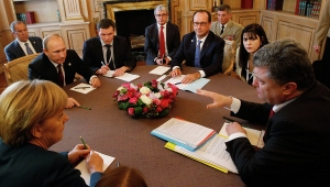 меркель, встреча, нормандский формат