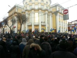 активисты, Винница, облсовет, акции, майдан, Украина