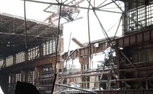 новости, Украина, Донбасс, ЛНР, Алчевск, ЧП, крыша. рухнула, упала, обвалилась, фото, Алчевский металлургический комбинат