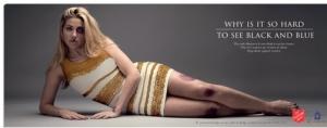 платье, бело-золотое, черно-синее, полосатое платье, цвет платья, реклама, борьба с насилием