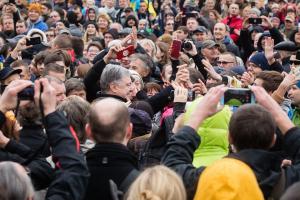 порошенко, украина, вече, киев, митинг, капитуляция, штайнмайер