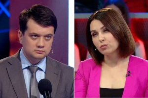 Украина, политика, выборы, зеленский, партия, раумков, мосейчук, видео, спор, эфир