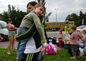 МЧС, АТО, Донецкая область, переселенцы, пункты для беженцев