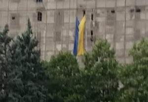 ДНР,  восток Украины, Донбасс, фото, кадры, Донецк, флаг