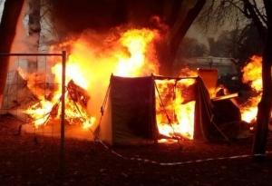 верховная рада, пожар, протестующие, мвд украины, фото