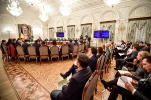 Аваков, Саакашвили, Яценюк, конфликт на заседании Совета реформ