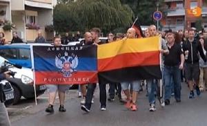 марш, неонацистов, германия, днр, флаг
