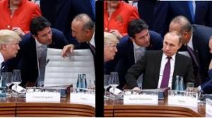 """Владимир Путин опозорился, отфотошопленное фото с Путиным, """"большая двадцатка"""", мировые лидеры и Путин"""