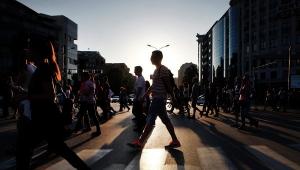 скопье, митингующие, общество, македония, отставка правительства