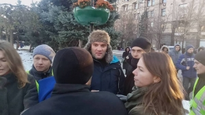 украина, полиция, киев, акция, задержания, савченко