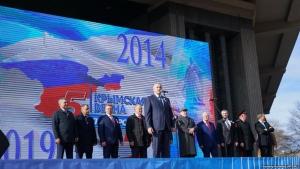 новости, Крым, митинг, 5 лет аннексии, Жириновский, Пушилин, куда делся, не пригласили, видео, Денис Пушилин, ДНР