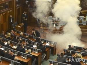 косово, парламент, взрыв, происшествия, политика