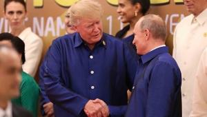 США, Россия, Дональд Трамп, Владимир Путин, Рукопожатие, Саммит АТЭС, Въетнам