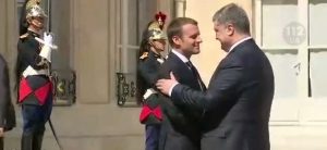 Петр Порошенко, президент Украины, Эммануэль Макрон, париж, Франция, визит