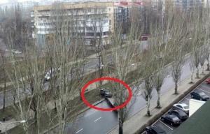 дтп, фото, донецк, авто, дерево, донбасс, новости украины