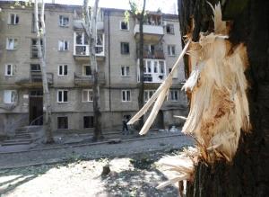 донецк, киевский район, правовая улица, снаряд, ато