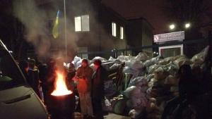 украина, киев, NewsOne, скандал, баррикада, майдан