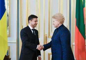 новости, Украина, Владимир Зеленский, Литва, Даля Грибаускайте, встреча, ЕС, НАТО