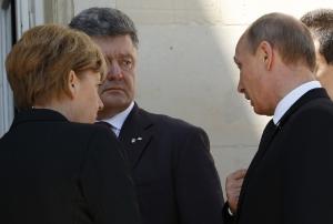 Петр Порошенко, Владимир Путин, Ангела Меркель, Россия, Украина, переговоры в Минске, юго-восток Украины, Донбасс, Милан, мир в Украине, политика