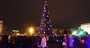 Луганск, елка, Новый год, праздник, мероприятия, ярмарка, спорт, жители, открытие