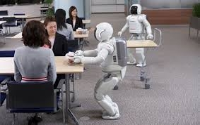 робот, ресторан, Китай, робот-официант