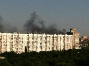 киев, пожар, дарница, происшествия, украина