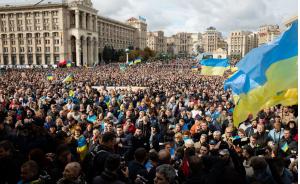 зеленский, украина, вече, протест, митинг, капитуляция, штайнмайер