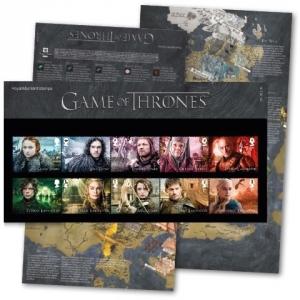 Игры престолов, Великобритания, марки, почта, коллекция, филателизм