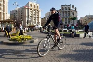 Кличко, мэр, столица, велосипед, ехал