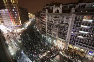 сербия, вучич, протест, белград