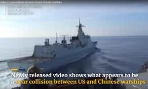 новости, США, Китай, Южно-Китайское море, провокации, столкновение кораблей, видео, кадры, происшествие