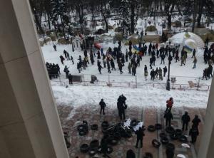верховная рада, палаточный городок, саакашвили, штурм, семенченко, полиция, протест, митинг, новости украины