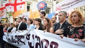 грузия, россия, политика, общество, тбилиси, акция протеста, марш, фашизм
