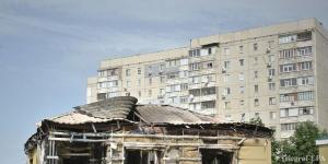 луганск, обстрел, ато, снаряд, крыша