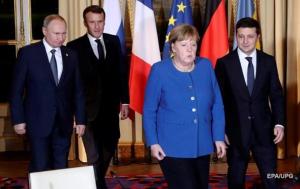 зеленский, путин, рукопожатие, нормандская встреча, париж, украина, россия, меркель, макрон, париж сегодня