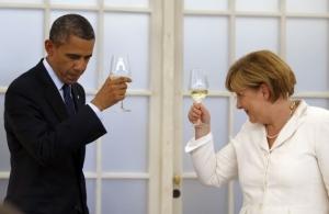 Обама, Меркель, санкции, Россия, разговор
