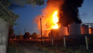 пожар на нефтебазе, пожар под киевом, васильков