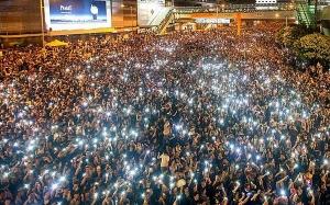 гонконг, китай, демонстрация, протест